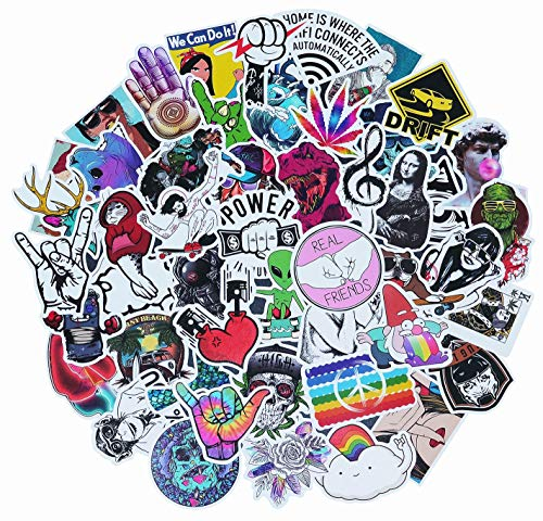 Graffiti Sticker, 50 Pieces Waterproof Vinyl Stickers for Personalize Laptop, Car, Helmet, Skateboard, Luggage Graffiti Decals, DIY Stickers (Section-4)
