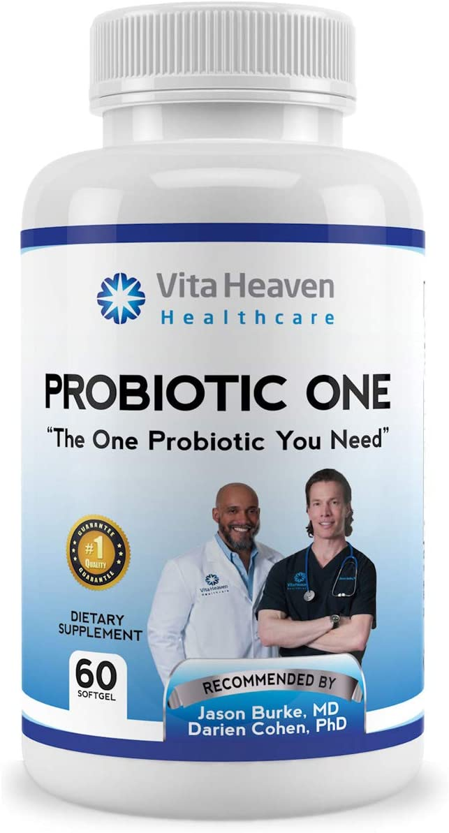 Vita Heaven Probiotic One with Prebiotics, Daily Supplement Supports Healthy Digestion and Restores