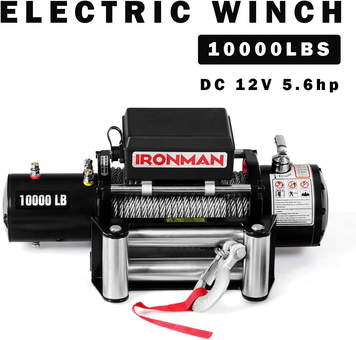 IP67 Waterproof Recovery Winch Utility Winch with Steel Wire Rope Goplus 10000 lbs 12V Electric Winch ATV//UTV Wireless Winch Kit Wireless Remote Control Pure Copper Motor