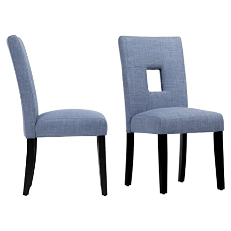 Miraculous Chelsea Lane Upholstered Keyhole Dining Side Chair Set Of 2 Ocoug Best Dining Table And Chair Ideas Images Ocougorg