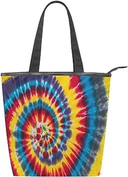 Bolso de Lona para Mujer con diseño Abstracto y Colorido, con ...