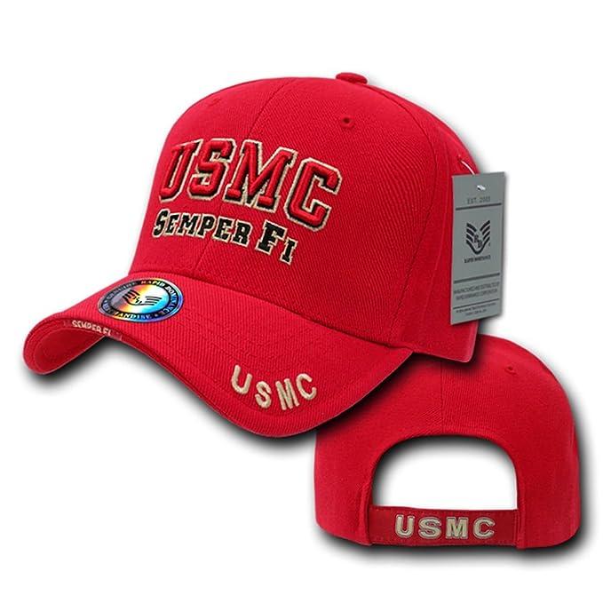 Amazon.com  Rapid Dominance Standard Military Baseball Cap - USMC ... c380d305fe4