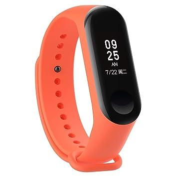 Correas de Relojes, Hanyixue Correa de Silicona Suave de Repuesto para Reloj Deportivo Inteligente Xiaomi Mi Band 3/4