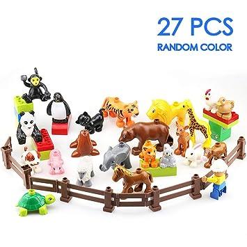 Duplo Weihnachten.Moretry Zoo Tiere Bauernhof Bausteine Zubehör Spielzeug Set Für Kinder Kompatibel Mit Duplo Ein Weihnachten Geschenktasche 27 Stück