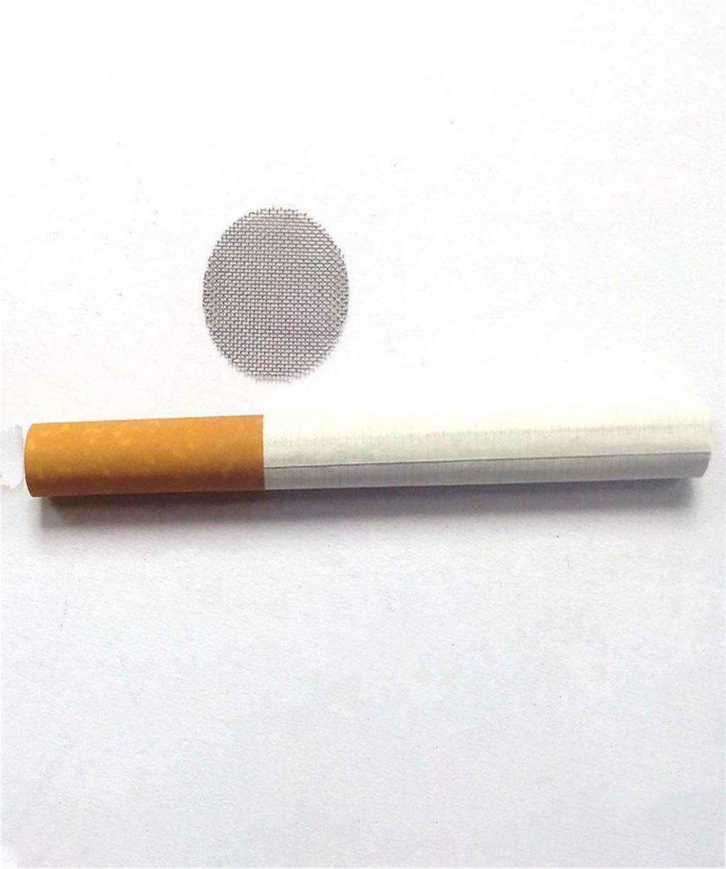 Vaycally 200Pcs fumeurs pipe /écrans haute qualit/é grade durable en acier inoxydable multifonctionnel narguil/é tuyau d/'eau filtres en m/étal fum/ée pipes /écran gaze filtre maille