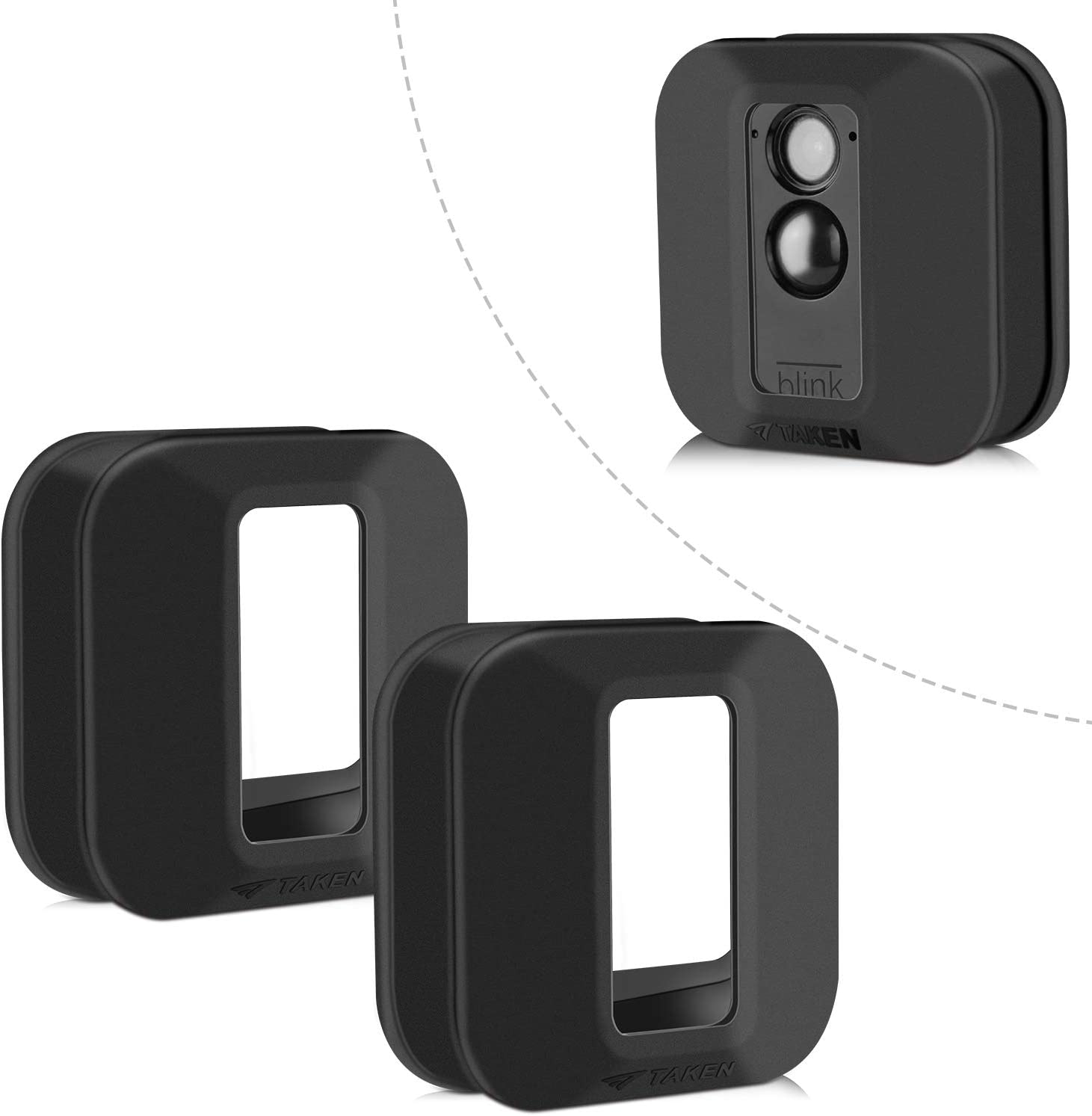 Blink XT Case, Silicone Skin for Blink XT Outdoor Home Security Camera UV and Water-Resistant, Indoor Outdoor Blink XT Protecting Case, 2 Pack, Black