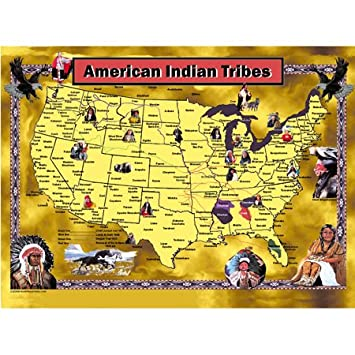 Indianerstamme Nordamerikas Karte.Mary Masters American Indian Tribes Jigsaw Puzzle 1000pc