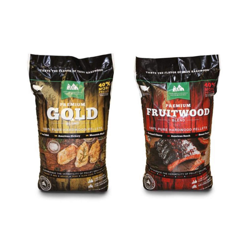 Green Mountain Grills Premium Gold Hardwood Grilling Pellets & Fruitwood Pellets by Green Mountain Grills