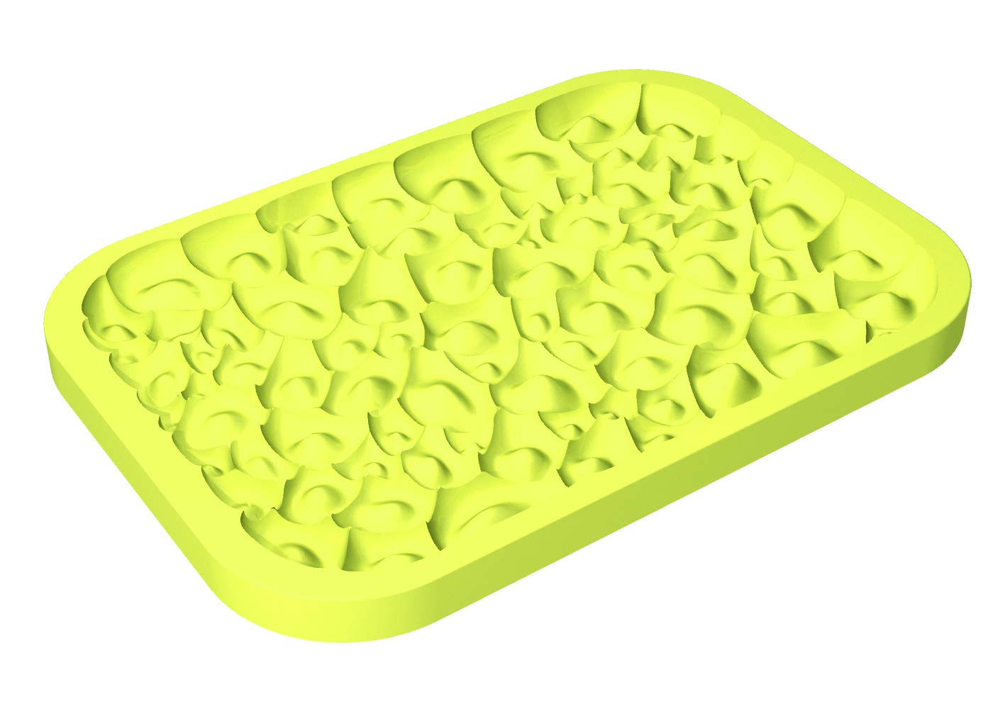 "Pavoni""Top Ice"" Silicone Mold for Shaping the Top of Ice Cream in a Food Pan - ""Coral"" Design"
