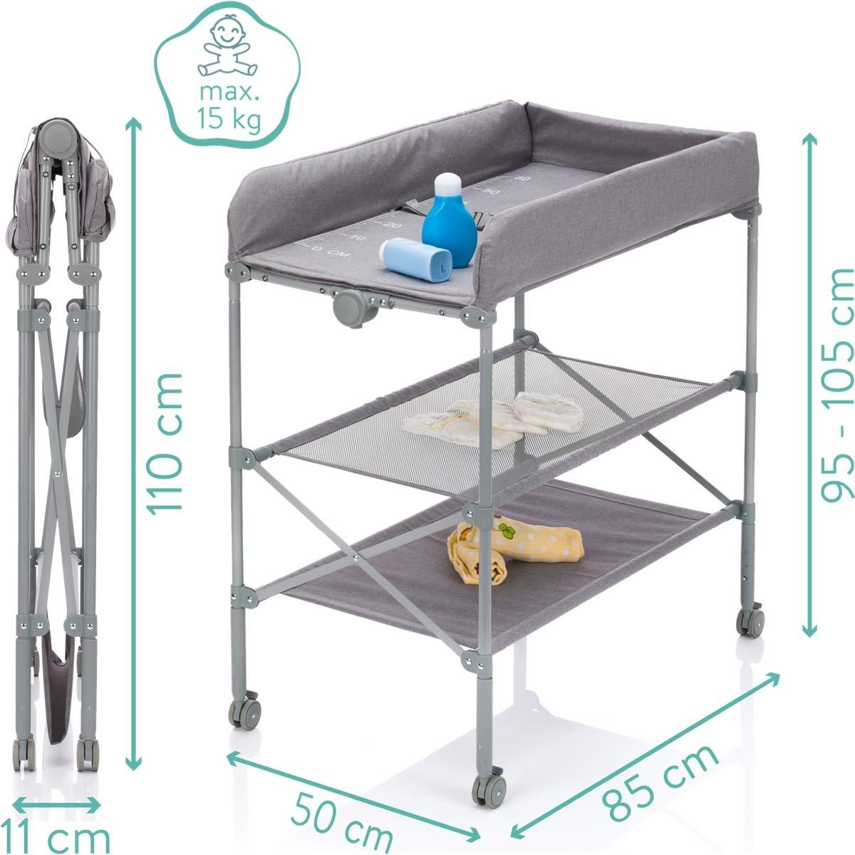 Mobiler Wickeltisch//Wickelkombi//Wickelauflage Klappbar und h/öhenverstellbar