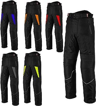 Boys Grey Women Motorcycle//Motorbike Big Pocket Waterproof Removable Cordura Textile Trouser Pant for Mens 2XL