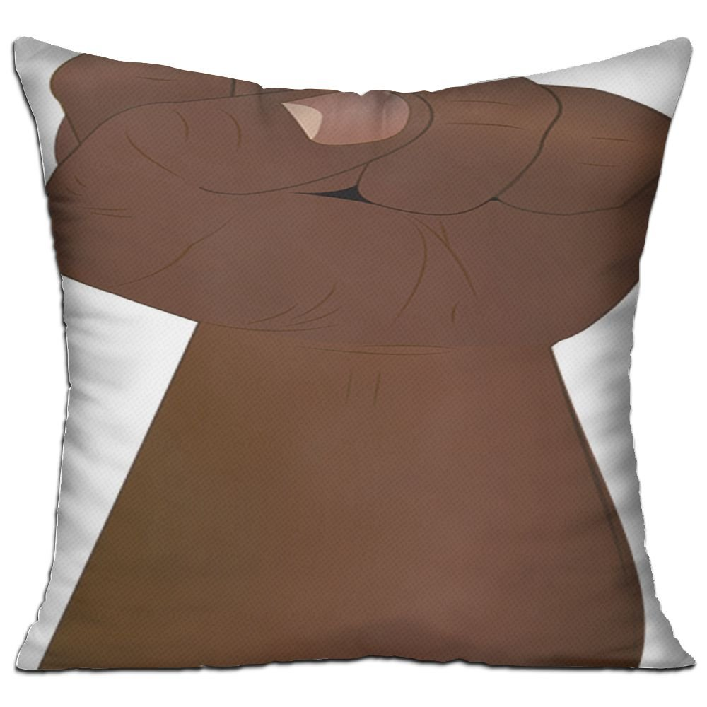 Fist Hand Revolution Freedom Power Protest Cozy Sofa Pillow 18in X 18in (Including Pillow Inside)