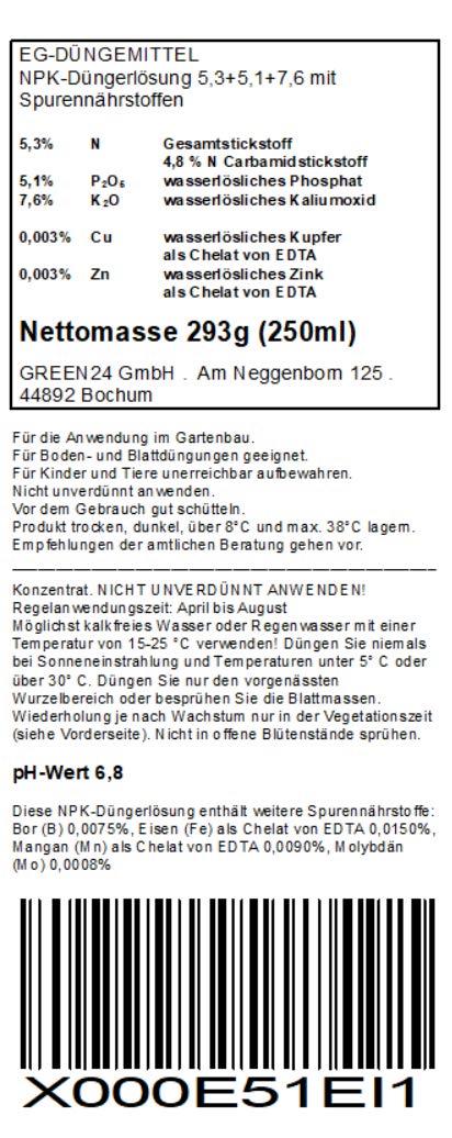 Berühmt Weinreben-Dünger HIGH-TECH Vitis NPK für Pflanzen in Beet und #IE_84