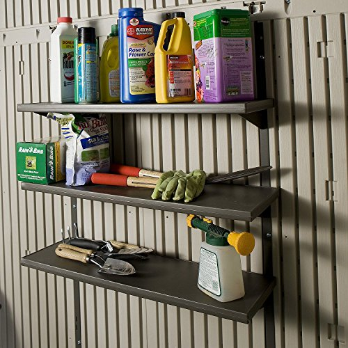 Lifetime Products 3 Piece 30in Shelf Storage Shed Accessory Kit