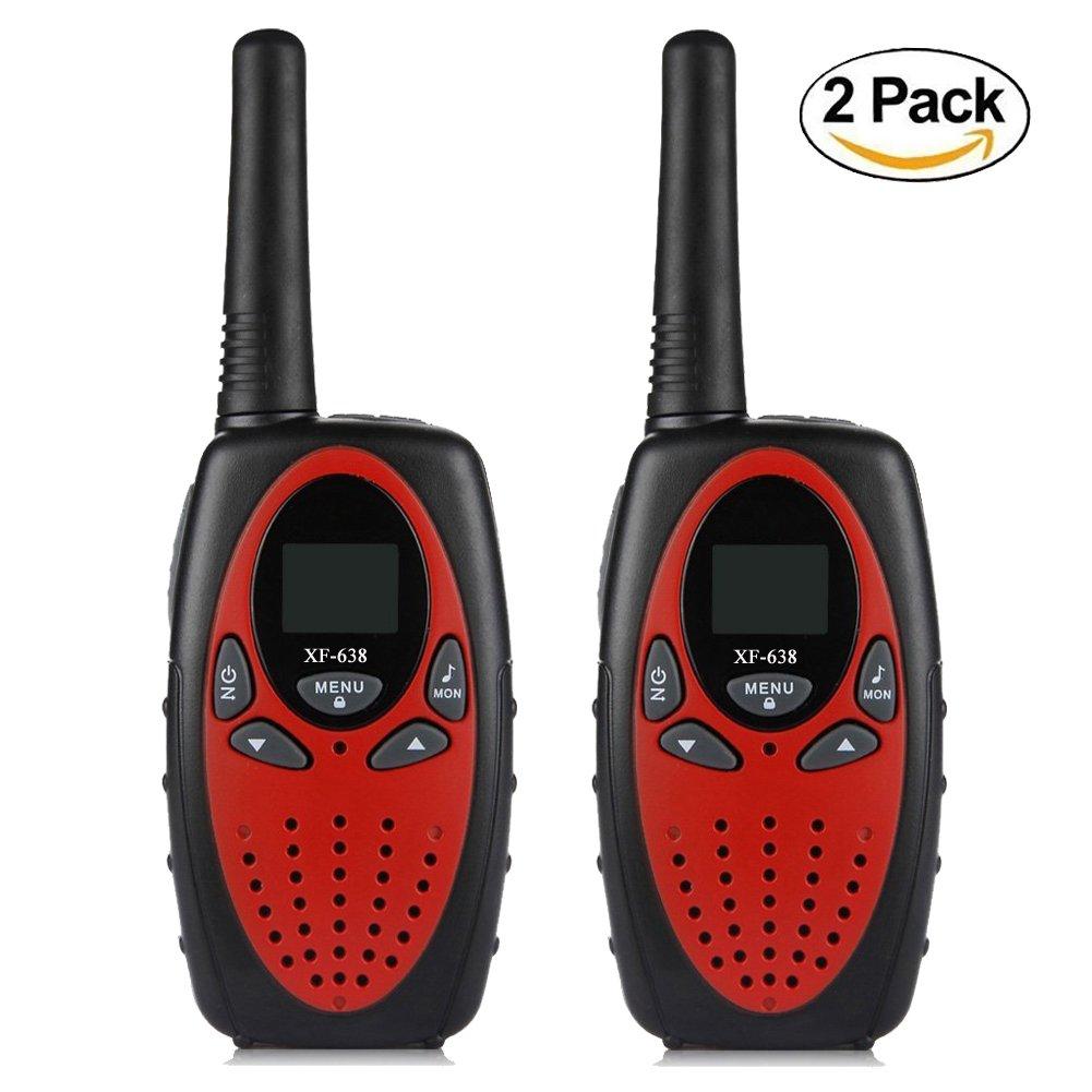 Kids Walkie Talkies YEOOM Handheld 22 Channel 0.5W FRS/GMRS Radios Long Range Outdoor 2 Way Radios for Kids (Red, Pack of 2) by YEOOM (Image #1)