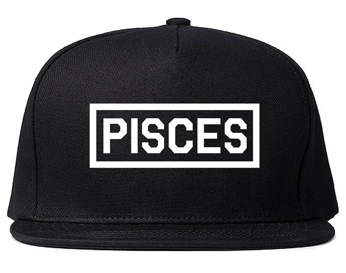 Pisces Horoscope Sign Mens Snapback Hat Cap Black At Amazon Mens