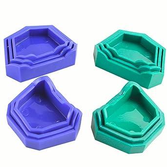 Earlywish molde de yeso dental moldes de molde anterior 12 piezas / 2 conjuntos de ortodoncia