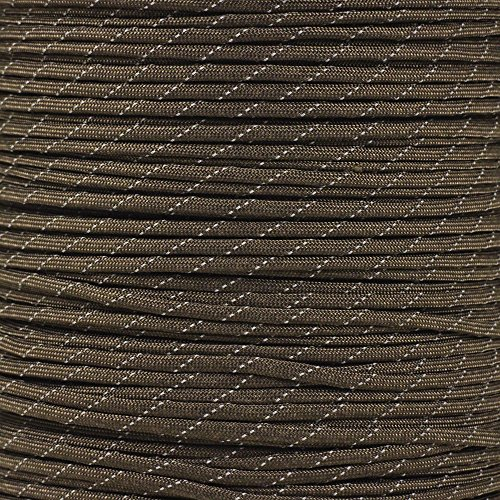 - PARACORD PLANET Reflective Paracord Made of 100% Nylon with 7 Inner-core Strands Available in 10, 25, 50, and 100 Foot Lengths That is Made in The USA.!!