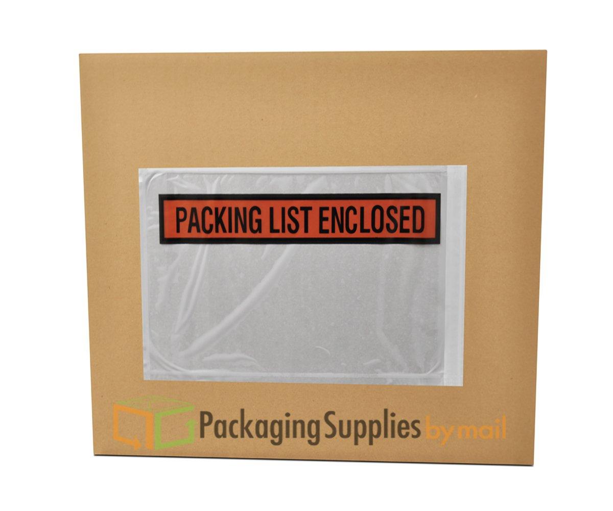 Panel Face Packing List Envelopes PLE-PP510, Packing List Enclosed, 10'' Length x 5-1/2'' Width, Panel Face Peel & Stick Envelope (Case of 1000)