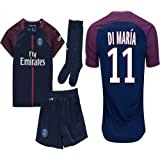 Kid / Youth Paris Saint-Germain PSG FC 2017 2018 17 18 Replica Home & Away Jersey of Neymar Jr, Cavani & Di Maria
