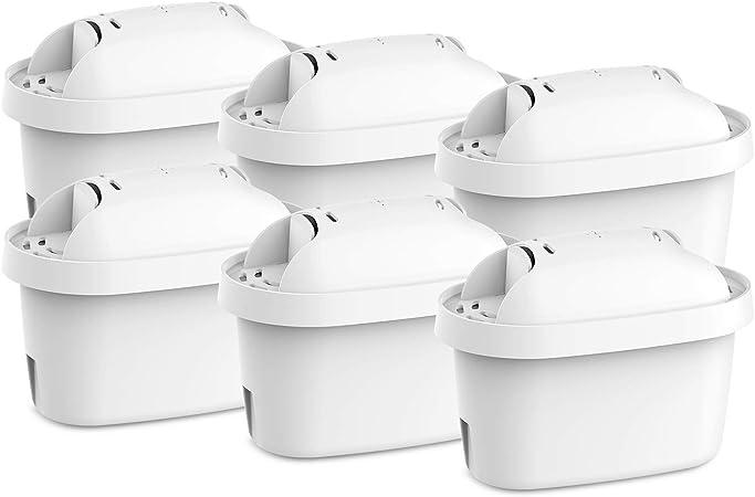 FilterKraft FK-ECF-7007A filtros para el agua - cartuchos de filtrado para el agua compatible para Brita Maxtra; Mavea, Elemaris, Marella, Aluna, Fjord, PearlCo Dafi Unimax, Bosch Tassimo (6): Amazon.es: Hogar