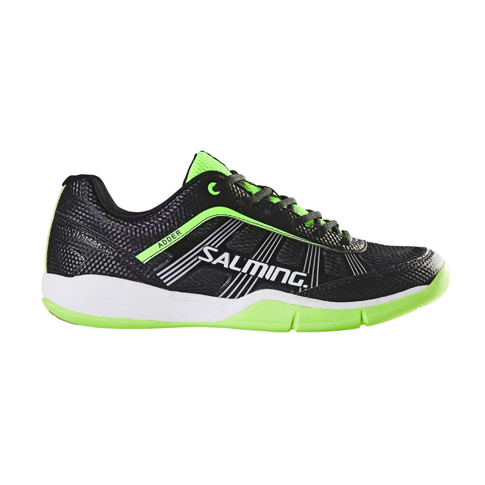 Salming Adder Men's Indoor Court Shoe Black/Green (8)