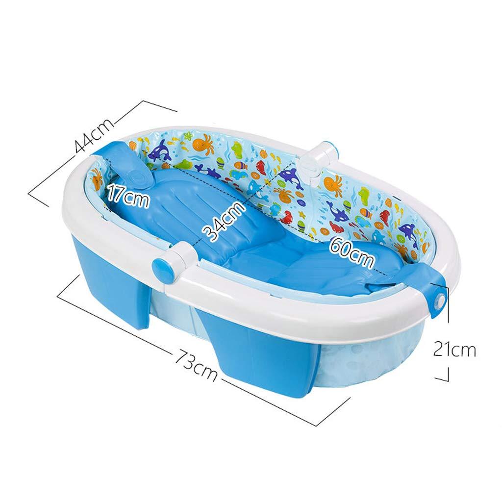 EETYRSD Baignoire Gonflable dépaississement Se Pliante de bébé écologique 73 44 21cm Bleu Baignoire
