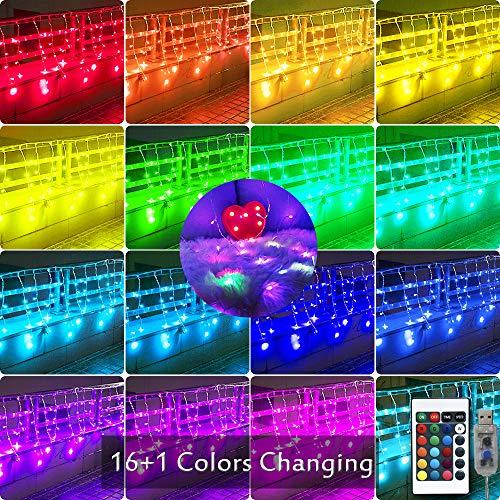 Color Changing Led Icicle Christmas Lights