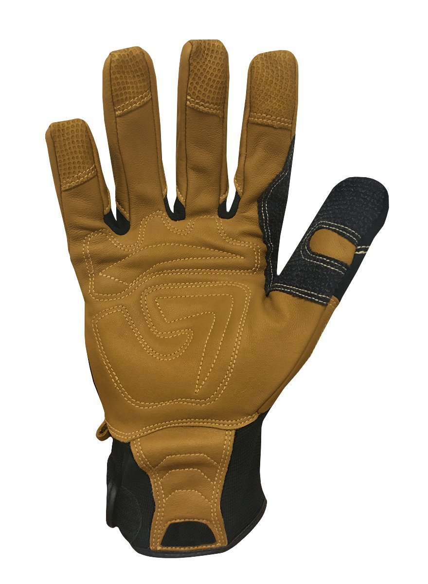Ironclad Ranchworx Work Gloves RWG2, Premier Leather Work Glove, Performance Fit, Durable, Machine Washable, Sized S, M, L, XL, XXL, XXXL (1 Pair) by Ironclad (Image #2)