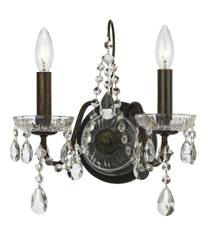 Crystorama 3022-EBTwo Light Wall Sconce from Traditional Crystal collection