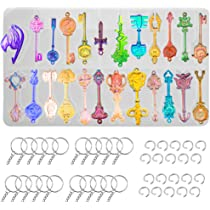 Soap Resin Silicone Mold Candy Clay Silicone Princess Wand Pendant Mold Etc Mold for Cabs Q160B