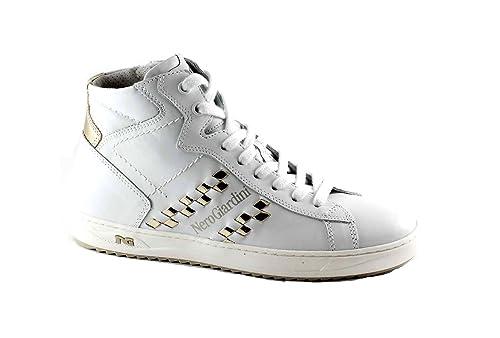 Giardini Alte Scarpe Bianco 17273 Zip Lacci Sneaker Nero Donna O1nWdaO7