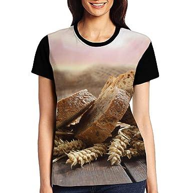 7a98a399ad0f ERGOU Women s Raglan Top Tee Bread Summer Casual T Shirts at Amazon Women s  Clothing store