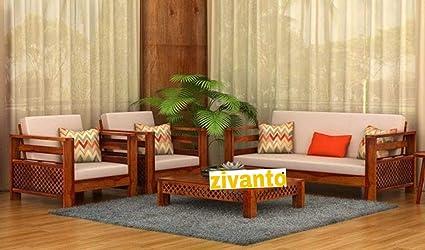 zivanto sheesham sofa set for living room wood furniture office rh amazon in living room wooden furniture sofas living room oak furniture