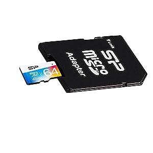 シリコンパワー microSDXCカード 64GB class10 UHS-1対応 最大読込85MB/s アダプタ付 永久保証 SP064GBSTXBU1V20SP