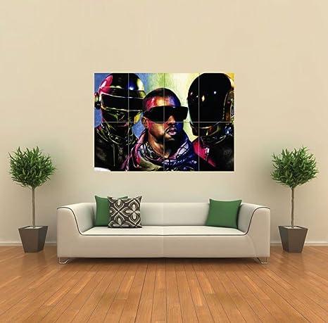 Amazon.com: Kanye West Daft Punk gigante Póster X221: Home ...