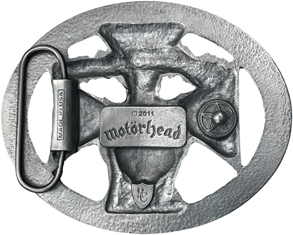 Motorhead Oval Belt Buckle Red Edition