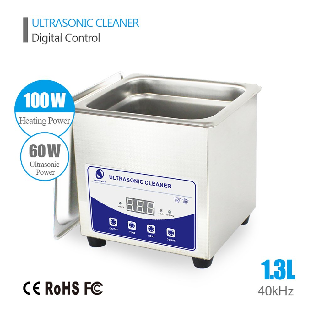 1.3L Professional Ultrasonic Cleaner for Medical and Dental Clinics, Tattoo Shops, Scientific Labs and Golf Clubs. Jewelers, Opticians, Watchmakers, Antique Dealers and Electronics Workshops