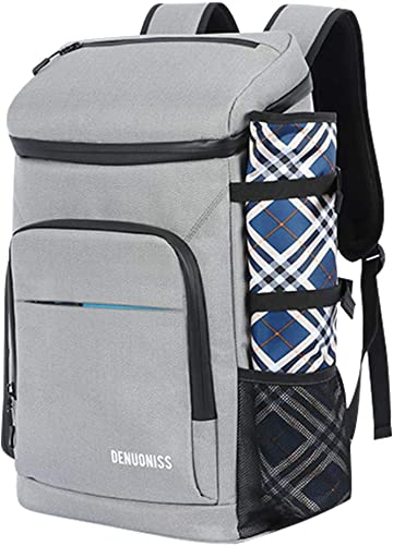 JUMO CYLY Soft Cooler Backpack Insulated, 30L Picnic Cooler Bag with Water-Resist Mat Large Leak-Proof Backpack Coolers for Family