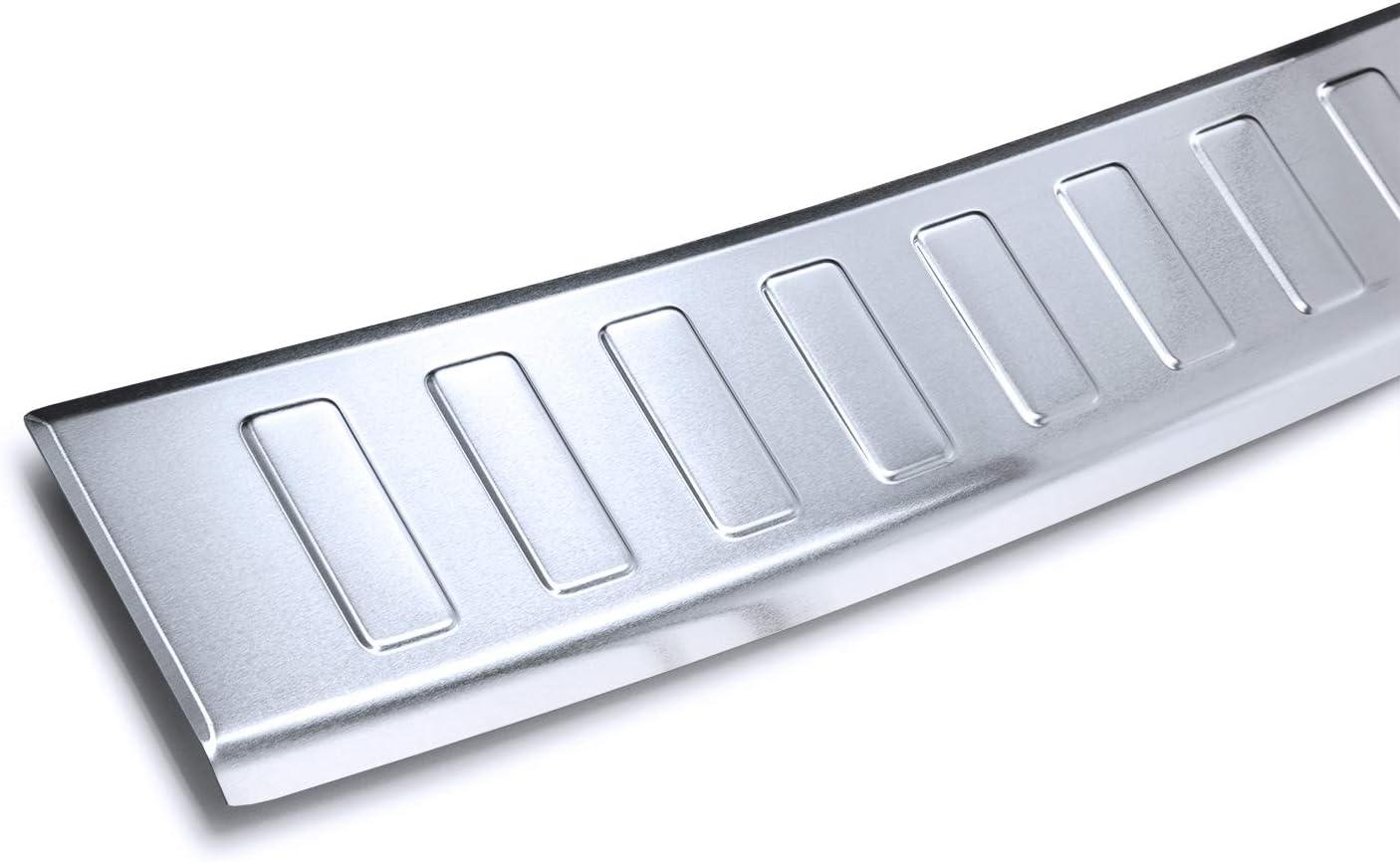 Colore:Argento teileplus24 AL125 Protezione paraurti Tutta in Alluminio con Profili 3D e Piegatura progettata appositamente per i Veicoli e Facile da Montare
