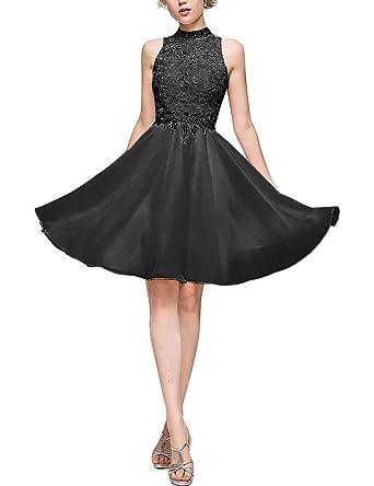 32814e4147a9cb Homecoming Dresses Short A-Line Princess High Neck Knee Length Chiffon Homecoming  Dress With Beading