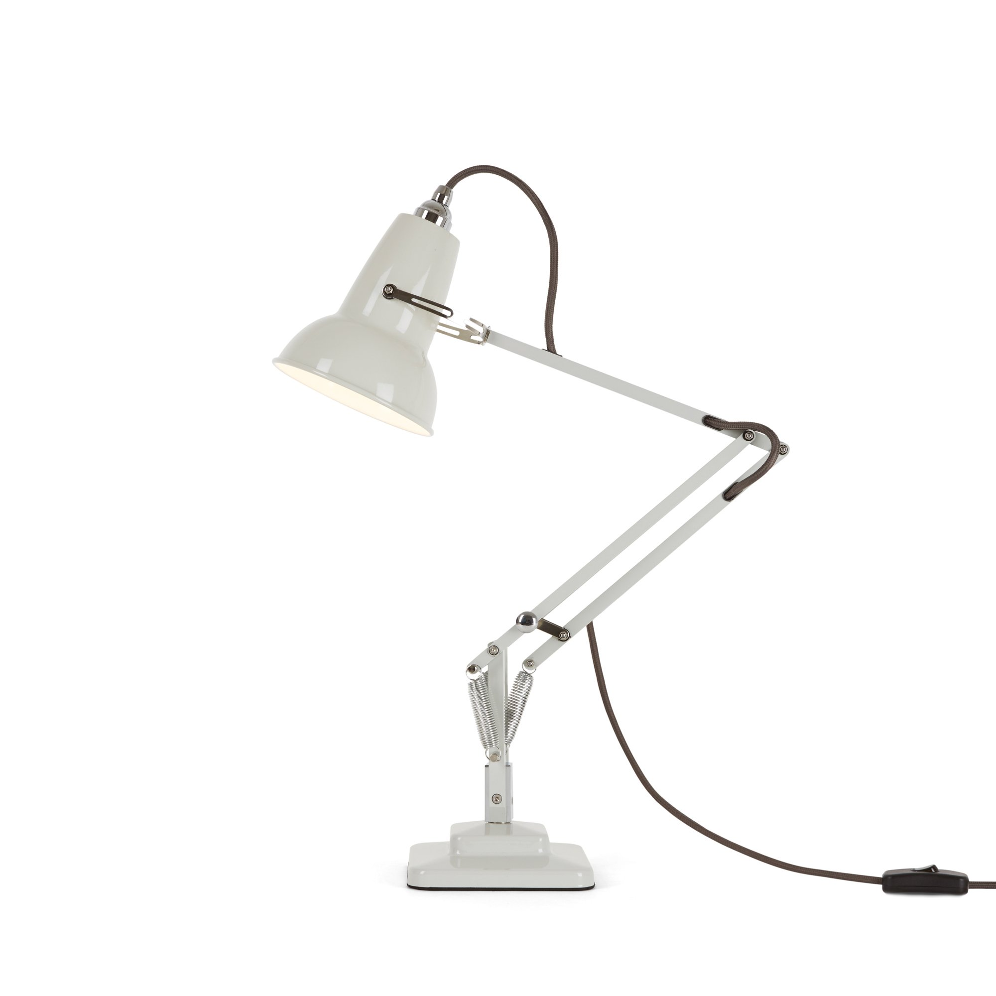 Anglepoise Original 1227 Mini Desk Lamp Linen White With Grey Cable Energy Class A Buy Online In Dominica At Dominica Desertcart Com Productid 51259803