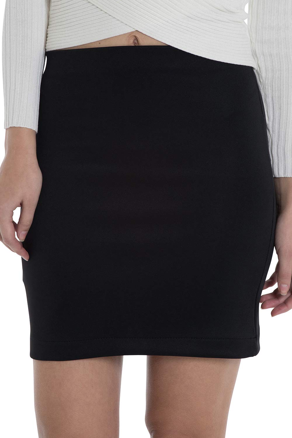 Discrepanza spericolato Whitney  Women's Mini Skirt - a Bodycon Black Pen- Buy Online in Burkina Faso at  Desertcart
