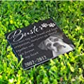 P Lab Personalized Granite Pet Memorial Stone w 'Your Pet Photo' Customized Headstone Marker #13