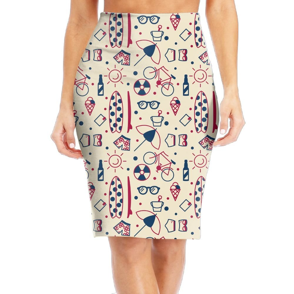 Le Yue Women's Printed High Waist Summer Trunk Glasses Pencil Skirts For Formal Occasion Wear