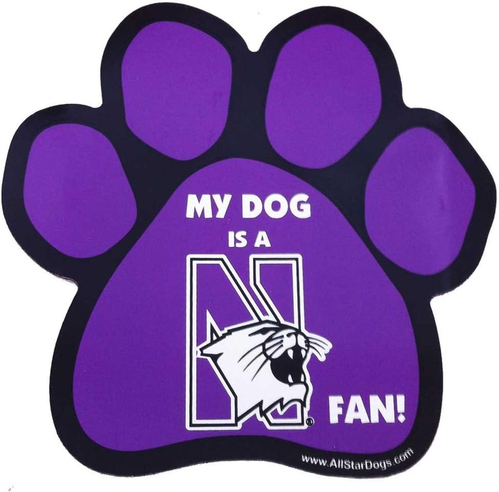 All Star Dogs NCAA Northwestern Wildcats Cotton Hooded Dog Sweatshirt