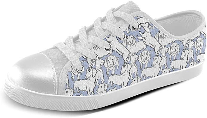 Drew Dachshund Canvas Kid's Shoes
