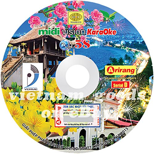 Arirang Karaoke Vision Midi Disc Vol 58 Serial D Vietnamese English For Arirang Player AR 909 HD / AR 3600 HD / AR 3600 KTV