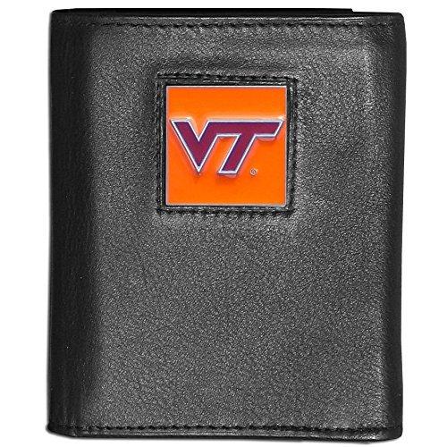Siskiyou NCAA Virginia Tech Hokies Deluxe Leather Tri-fold Wallet