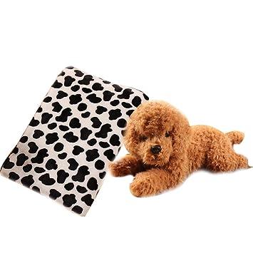 a-nam 31,5 * 39,4 pulgadas regla manta, Super suave forro polar de mascota Perro Gato Cama Floral cachorro, cojines: Amazon.es: Productos para mascotas